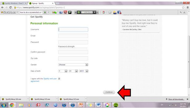 Listen Spotify music on Spotify PC-with email