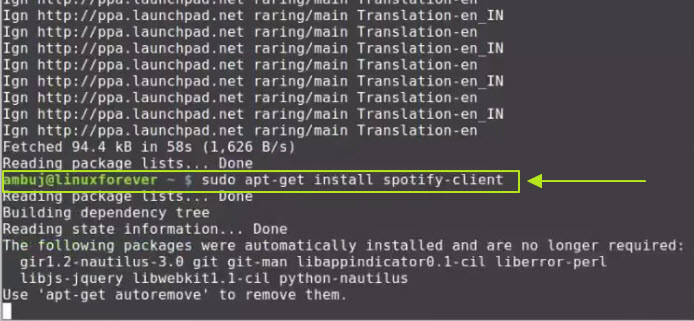 Listen to Spotify music without restriction-For Linux operating system-install spotify