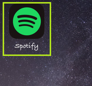 Play music on Spotify on ios-run the app