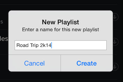 save your music with Spotify playlist-give name and click create