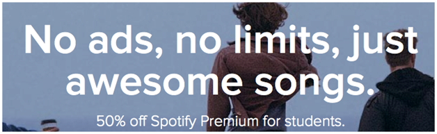 How to get spotify student discount-Process of Signing Up