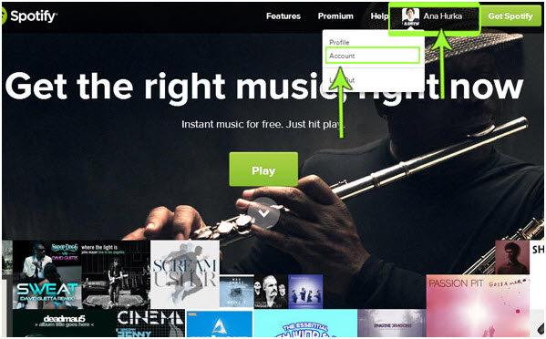 tips-spotify-subscription-login and click on account tab