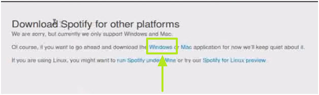 Listen to music on Spotify Linux whenever you want-Install Spotify without Command Line Terminal-click windows option