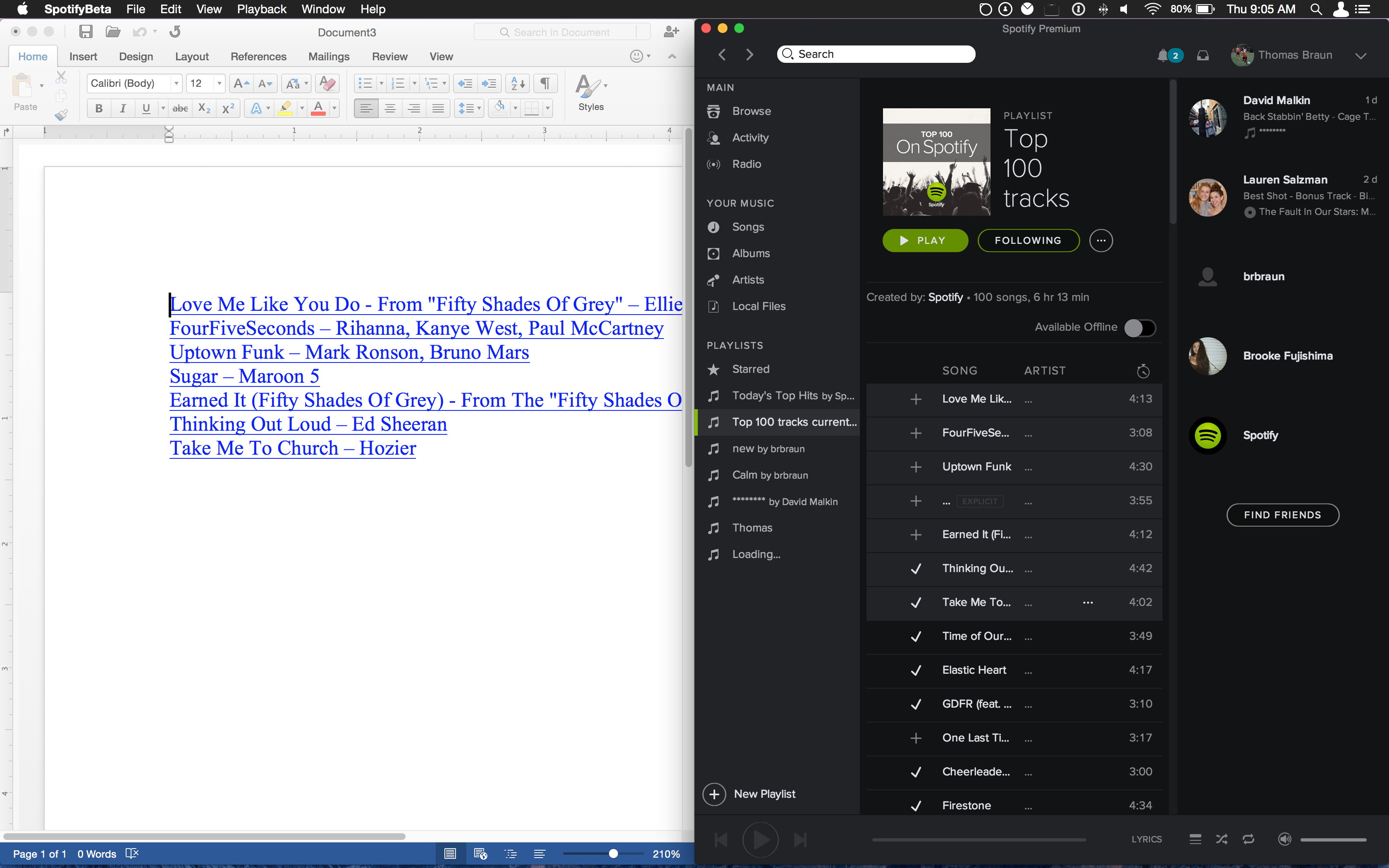 Export a Playlist as a text File and Import-word