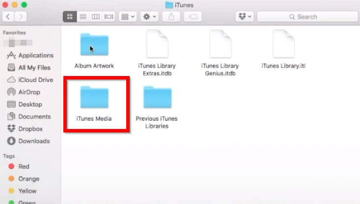 How to Download Music from iTunes to Computer-Go to iTunes media folder