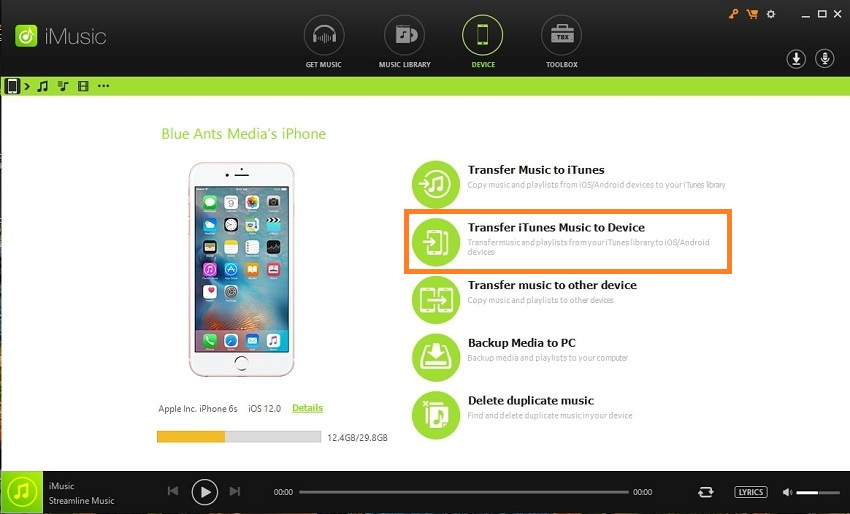 mp3 player download music for free-go to the itunes interface