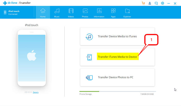 How to Put Music on iPod Without iTunes  -Transfer iTunes Media to Device
