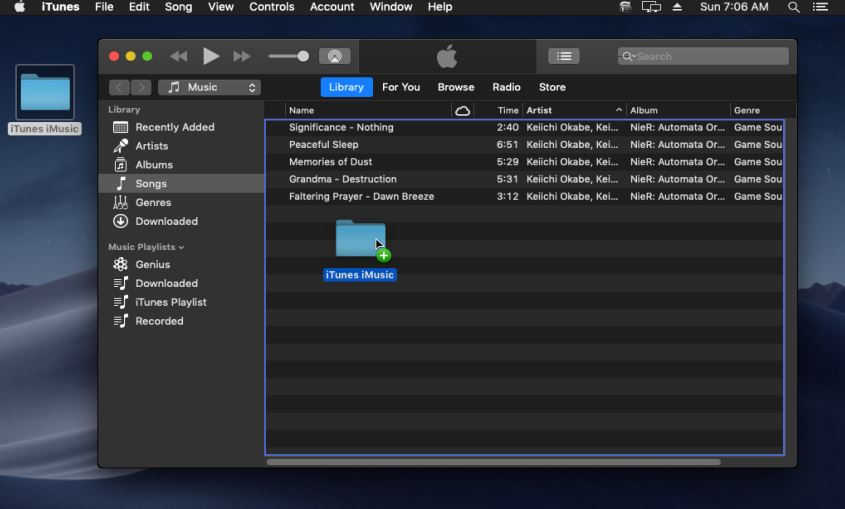 How to Transfer Music from Computer to iTunes for Free-drag and drop the file