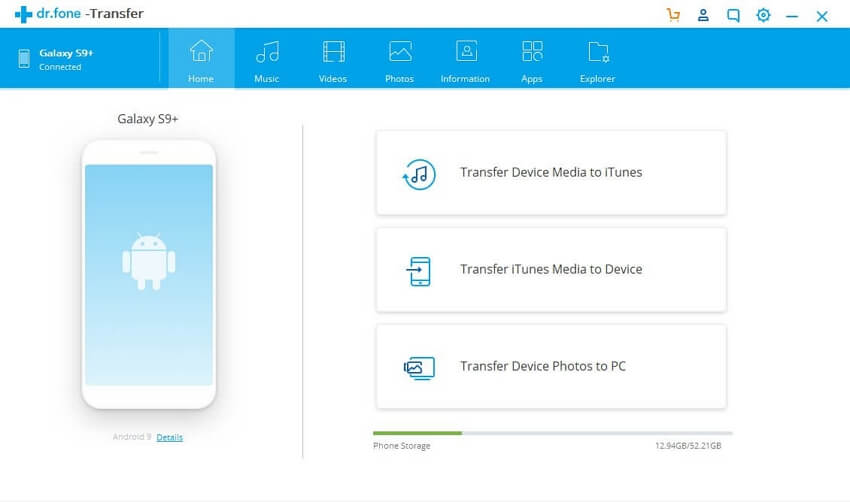 Top 10 Music Transfer App for /iPhone/iPad/iPod /Android Between Mac - dr.fone - Transfer (Android)