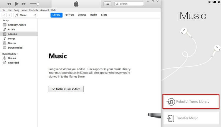Create a New iTunes Library-rebuild itunes library