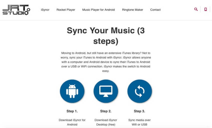 iTunes to Android Transfer: Move Music from iTunes to Android -Download iSyncr (Desktop)