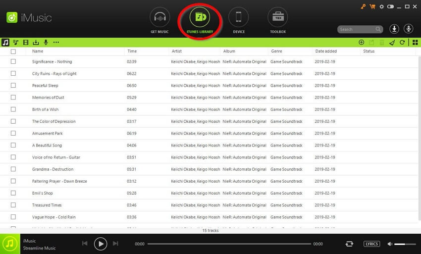 How to Copy Music from iTunes to USB Flash Drive  - Go to the ITUNES LIBRARY page