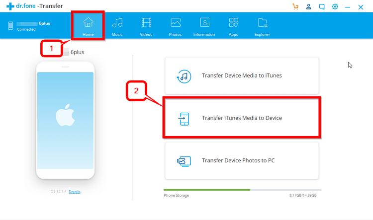 2 Useful Solutions to Copy Music from iTunes to iPhone6/7/8/8Plus/X/XR/XS/XS Max   -Transfer iTunes Media to Device