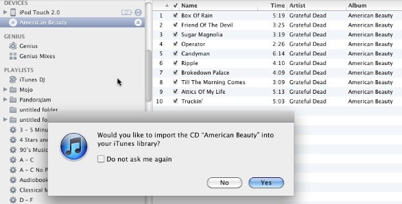 how to get music from cd to itunes