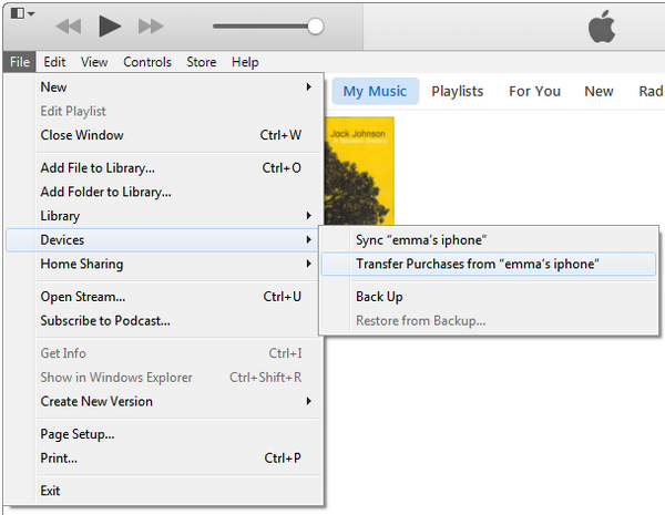 how to transfer music from one itunes account to another