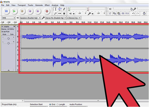 use audacity to record audio from video