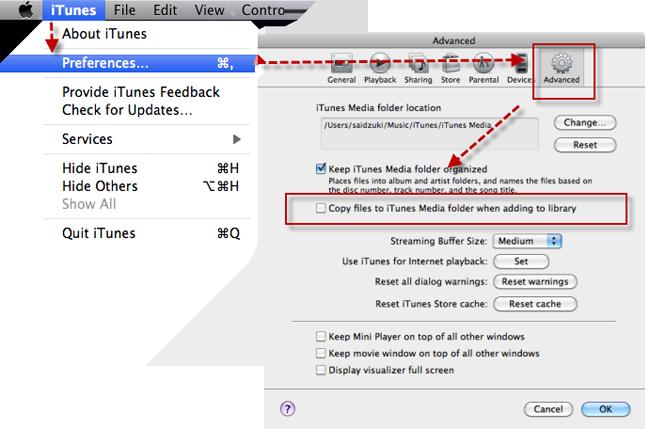 preferências do iTunes