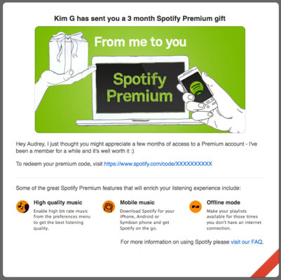 how to use spotify gift card