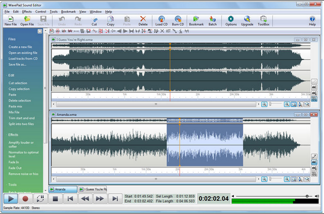 how to set 4trak to audacity