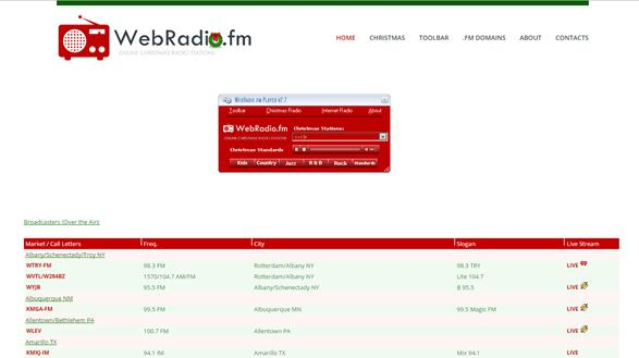 Web-Radio Christmas Player
