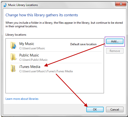 transfer music from windows media player to itunes