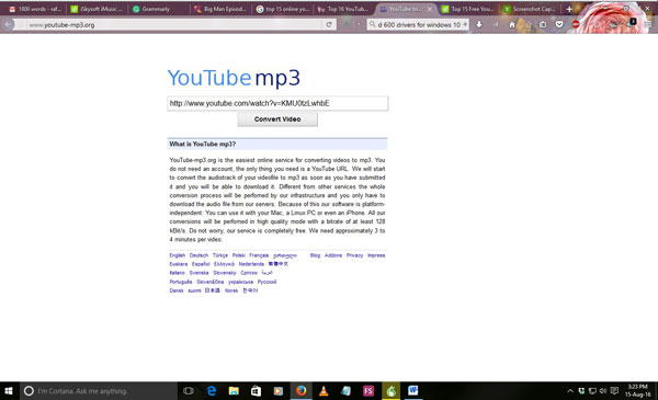 free youtube to mp3 converter online