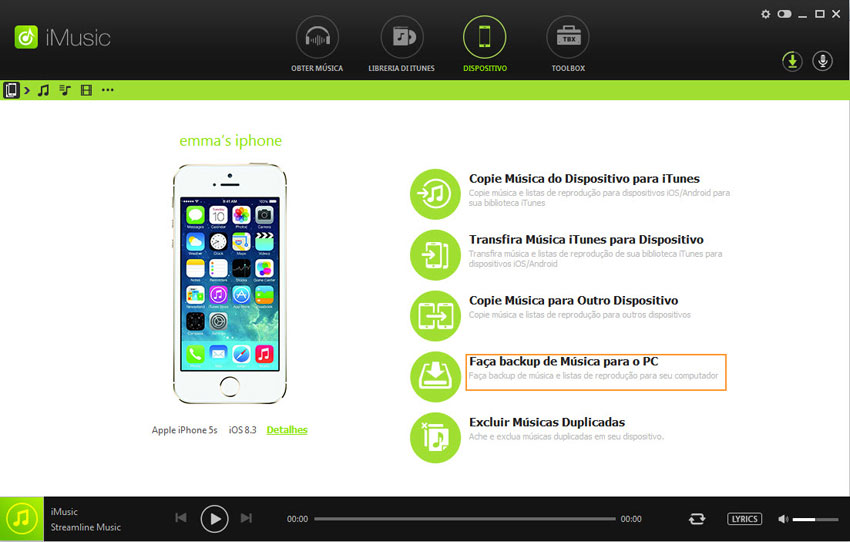 transferência de música itunes para iphone