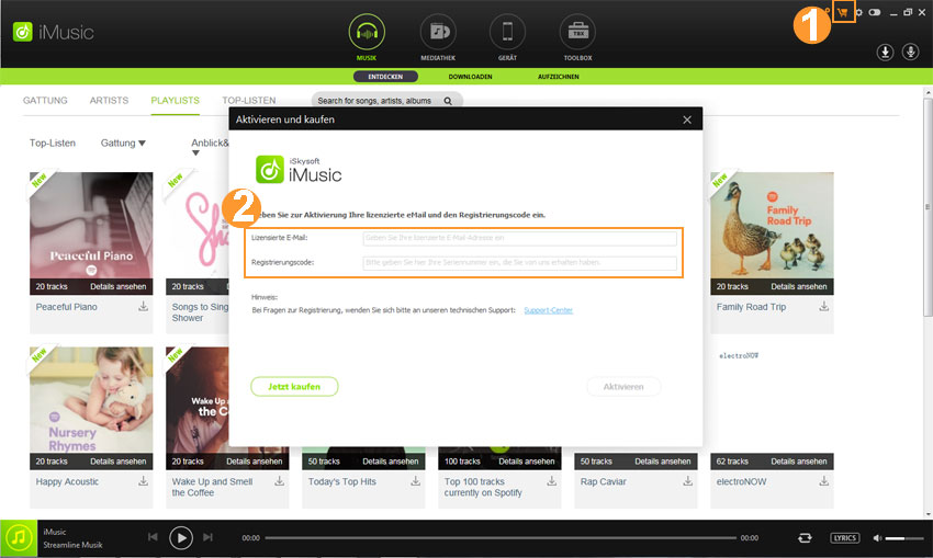 register of iMusic