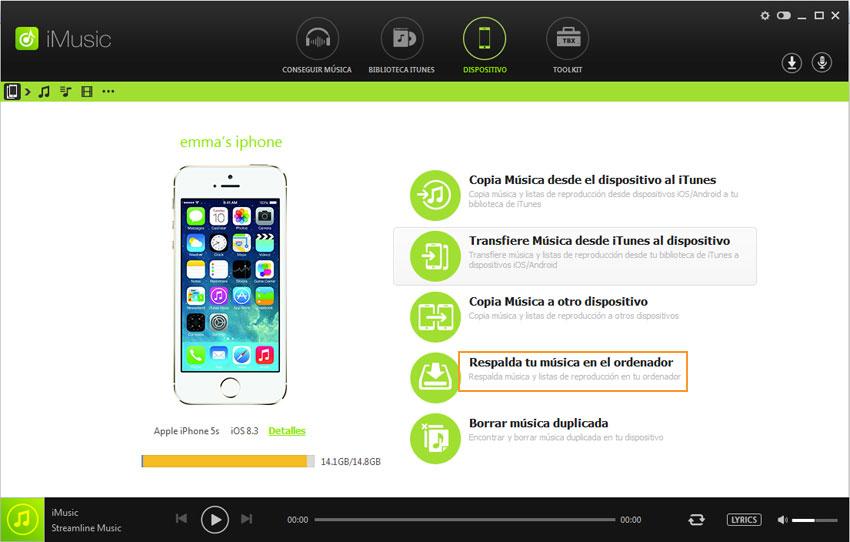 iTunes para transferir música iphone