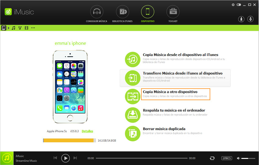 transferir musica de android a android