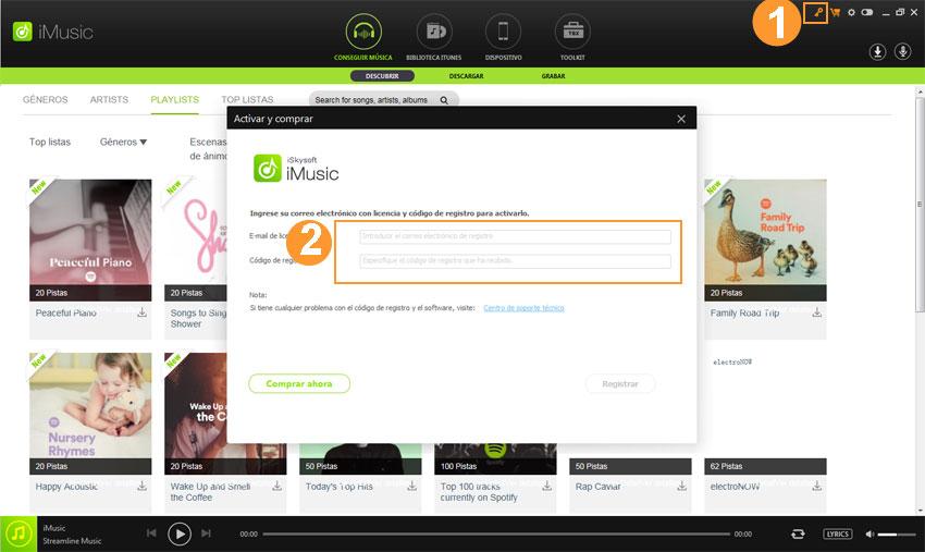 register of iMusic