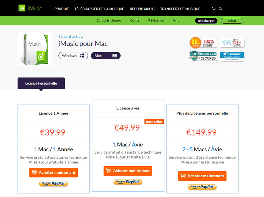 trial version vs full version of iMusic