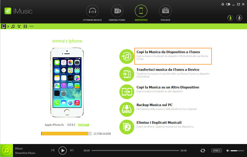 transfer music from iPhone to itunes