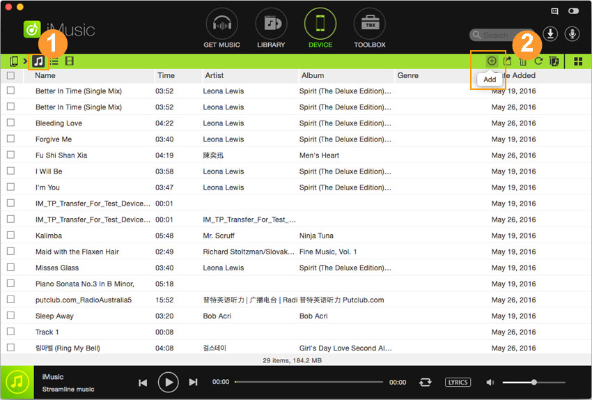 transfer music from mac to ipad