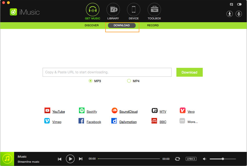 download music in iMusic