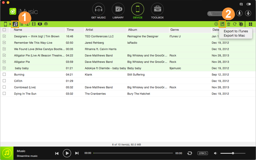 copy music from ipad to itunes