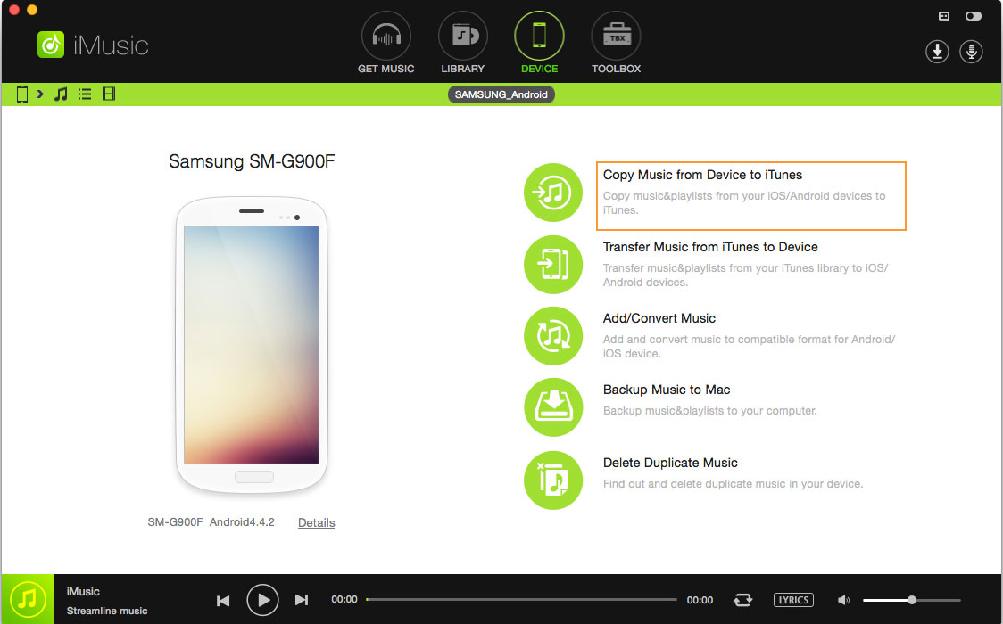 transfer music from android to itunes