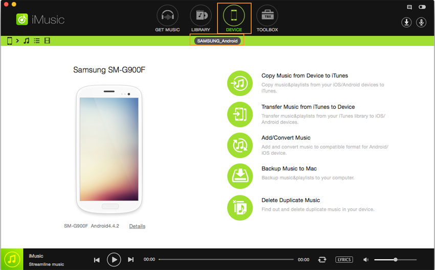 how to put music on android from pc